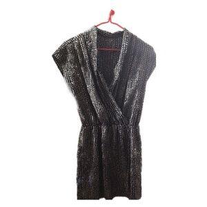 Wrap dress with an elastic waist band